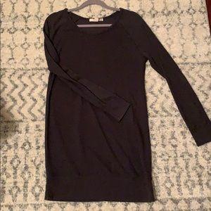 Navy sweater dress